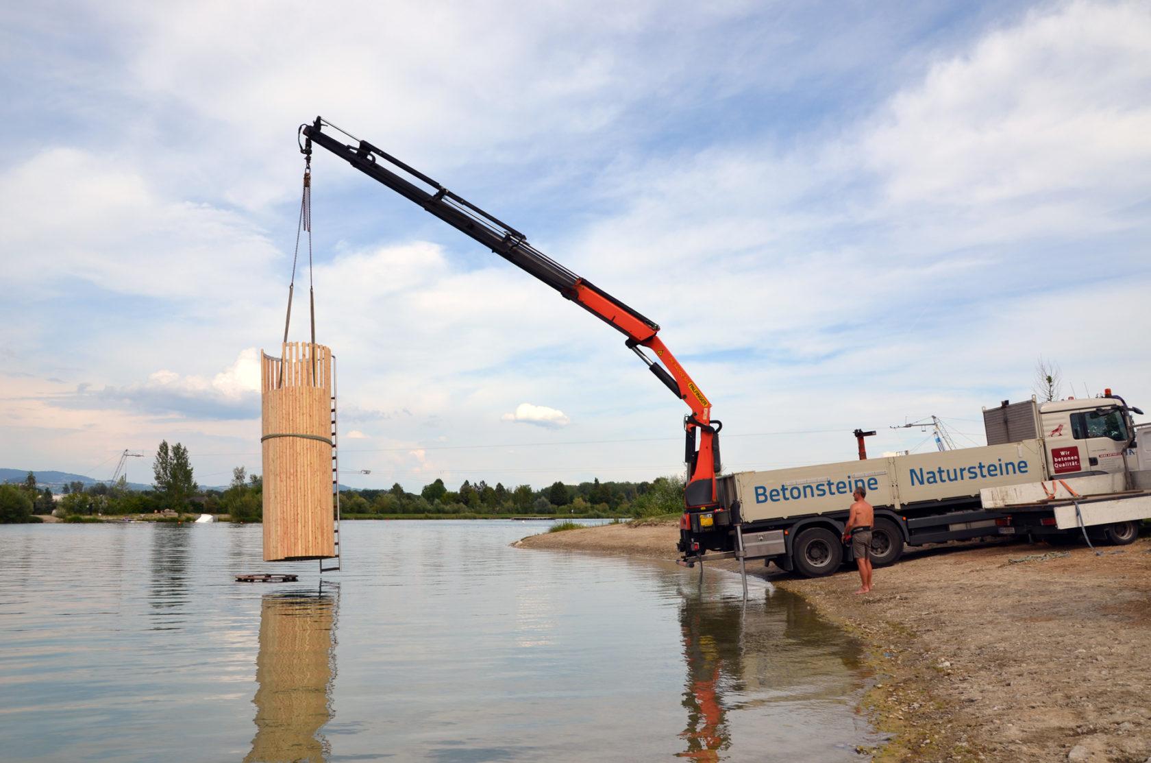 Neue Sprungturmanlage in der Bucht im Badesee III – Feldkirchen