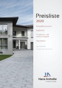 Preisliste Beton- Natursteine 2020